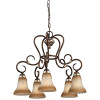 Minka-Lavery Marsoni 5 Light Chandelier in Distressed Marsoni Bronze 1984-565
