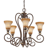 Minka-Lavery Marsoni 5 Light Chandelier in Distressed Marsoni Bronze 1985-565