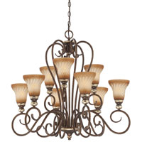 Minka-Lavery Marsoni 9 Light Chandelier in Distressed Marsoni Bronze 1989-565