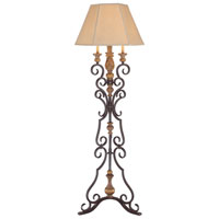 Minka-Lavery Hearst Castle 4 Light Floor Lamp in Monte Titano Oro 22353-159