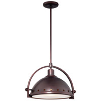 Signature 1 Light 16 inch Brushed Bronze Pendant Ceiling Light