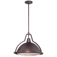 Minka-Lavery Signature 1 Light Pendant in Brushed Bronze 2253-576