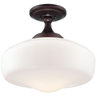 Minka-Lavery Signature 1 Light Semi-Flush in Brushed Bronze 2259-576
