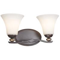 Minka-Lavery 2282-589 Shadowglen 2 Light 16 inch Lathan Bronze/Gold Bath Bar Wall Light