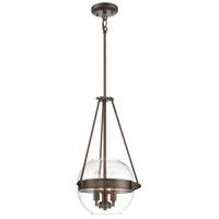 Minka-Lavery 2290-281 Atrio 3 Light 12 inch Harvard Court Bronze Plated Pendant Ceiling Light