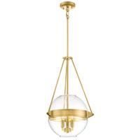 Minka-Lavery 2291-249 Atrio 3 Light 16 inch Liberty Gold Pendant Ceiling Light
