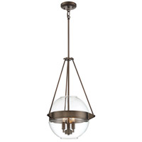 Minka-Lavery 2291-281 Atrio 3 Light 16 inch Harvard Court Bronze Pendant Ceiling Light