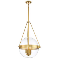 Atrio 4 Light 19 inch Liberty Gold Pendant Ceiling Light