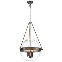 Minka-Lavery 2292-281 Atrio 4 Light 19 inch Harvard Court Bronze Pendant Ceiling Light