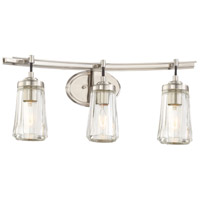 Poleis 3 Light 24 inch Brushed Nickel Bath Bar Wall Light