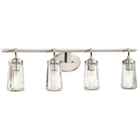 Poleis 4 Light 32 inch Brushed Nickel Bath Bar Wall Light