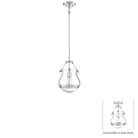 Minka-Lavery 2332-77 Altrio 1 Light 10 inch Chrome Mini Pendant Ceiling Light