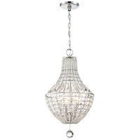 Minka-Lavery 2344-77 Braiden 4 Light 13 inch Chrome Pendant Ceiling Light