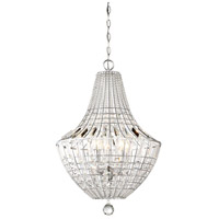 Minka-Lavery 2345-77 Braiden 5 Light 18 inch Chrome Pendant Ceiling Light