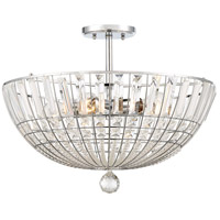 Braiden 5 Light 20 inch Chrome Semi-Flush Mount Ceiling Light