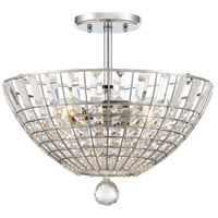 Braiden 3 Light 16 inch Chrome Semi-Flush Mount Ceiling Light