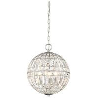 Minka-Lavery 2354-77 Palermo 4 Light 12 inch Chrome Pendant Ceiling Light