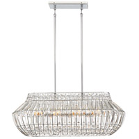 Minka-Lavery 2367-77 Braiden 8 Light 34 inch Chrome Island Light Ceiling Light