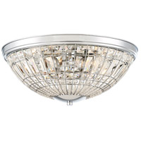 Palermo 5 Light 20 inch Chrome Flush Mount Ceiling Light
