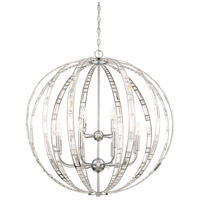 Palermo 12 Light 32 inch Chrome Pendant Ceiling Light