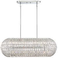 Minka-Lavery 2388-77 Palermo 8 Light 42 inch Chrome Island Light Ceiling Light