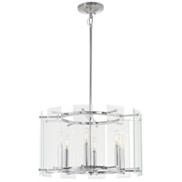 Beacon Trace 6 Light 20 inch Chrome Pendant Ceiling Light
