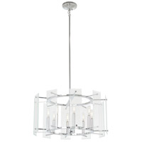 Beacon Trace 8 Light 24 inch Chrome Pendant Ceiling Light