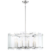 Beacon Trace 10 Light 28 inch Chrome Pendant Ceiling Light