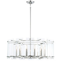 Beacon Trace 12 Light 32 inch Chrome Pendant Ceiling Light