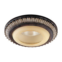 Signature Castlewood Walnut w/Silver Highlights Recessed Trim Ceiling Light in Incandescent