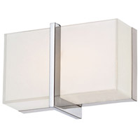 High Rise LED 8 inch Chrome Bath Wall Light