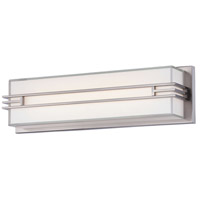 Minka-Lavery 2942-84-L Level LED 18 inch Brushed Nickel Bath Light Wall Light