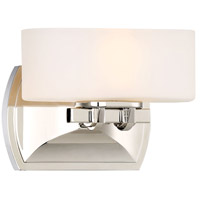 Drury 1 Light 8 inch Polished Nickel Bath Light Wall Light