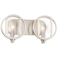 Minka-Lavery 3062-84 Via Capri 2 Light 16 inch Brushed Nickel Bath Light Wall Light
