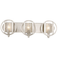 Via Capri 3 Light 25 inch Brushed Nickel Bath Light Wall Light