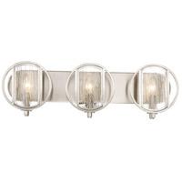 Minka-Lavery 3063-84 Via Capri 3 Light 25 inch Brushed Nickel Bath Light Wall Light