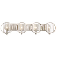 Minka-Lavery 3064-84 Via Capri 4 Light 34 inch Brushed Nickel Bath Light Wall Light