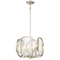 Via Capri 4 Light 13 inch Brushed Nickel Pendant Ceiling Light