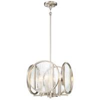 Minka-Lavery 3065-84 Via Capri 4 Light 13 inch Brushed Nickel Pendant Ceiling Light
