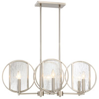 Via Capri 6 Light 32 inch Brushed Nickel Island Light Ceiling Light