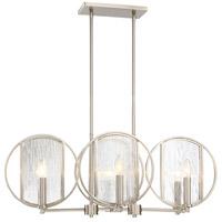 Minka-Lavery 3066-84 Via Capri 6 Light 32 inch Brushed Nickel Island Light Ceiling Light
