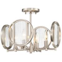 Minka-Lavery 3067-84 Via Capri 4 Light 15 inch Brushed Nickel Semi-Flush Mount Ceiling Light
