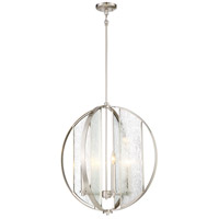 Minka-Lavery 3068-84 Via Capri 4 Light 24 inch Brushed Nickel Pendant Ceiling Light