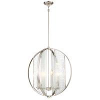 Minka-Lavery 3068-84 Via Capri 4 Light 24 inch Brushed Nickel Pendant Ceiling Light
