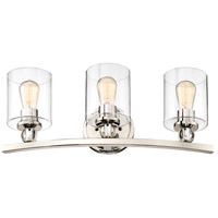 Studio 5 3 Light 24 inch Polished Nickel Bath Light Wall Light