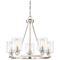 Studio 5 5 Light 26 inch Polished Nickel Chandelier Ceiling Light