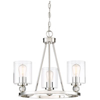 Minka-Lavery 3077-613 Studio 5 3 Light 22 inch Platinum Mini Chandelier Ceiling Light in Polished Nickel