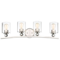 Studio 5 4 Light 33 inch Polished Nickel Bath-Bar Lite Wall Light