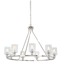 Studio 5 9 Light 45 inch Polished Nickel Chandelier Ceiling Light