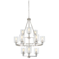 Studio 5 12 Light 32 inch Polished Nickel Chandelier Ceiling Light